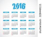 calendar 2016 | Shutterstock .eps vector #328448111