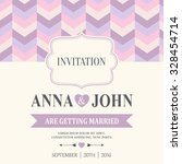 purple wedding invitation card  ... | Shutterstock .eps vector #328454714