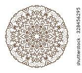 hand drawn henna tattoo mandala....   Shutterstock .eps vector #328456295