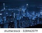 hong kong at night from... | Shutterstock . vector #328462079