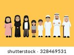 family standing cartoon vector... | Shutterstock .eps vector #328469531