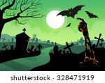 zombie dead skeleton hand from... | Shutterstock .eps vector #328471919
