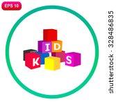 alphabet cubes. vector... | Shutterstock .eps vector #328486835