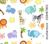 seamless pattern with  african... | Shutterstock .eps vector #328487801