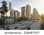 The Los Angeles Skyline At...
