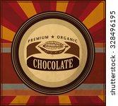 vintage vector logo template of ... | Shutterstock .eps vector #328496195