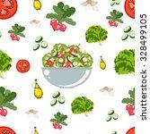 various vegetables icons set... | Shutterstock .eps vector #328499105