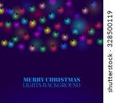 festive garland vector... | Shutterstock .eps vector #328500119