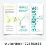 vector modern tri fold brochure ... | Shutterstock .eps vector #328503695
