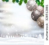 christmas santa snow | Shutterstock . vector #328512881