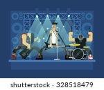 Rock Band Concert  Guitar And...