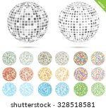 set with twenty colored globe... | Shutterstock .eps vector #328518581