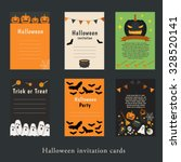 halloween party invitation and... | Shutterstock .eps vector #328520141