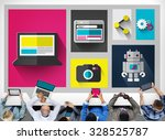 digital social media technology ... | Shutterstock . vector #328525787