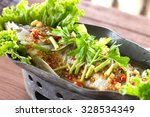 steamed fish  chinese style... | Shutterstock . vector #328534349