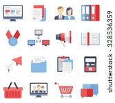business flat icons for web and ...