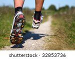 trail running. freeze action... | Shutterstock . vector #32853736