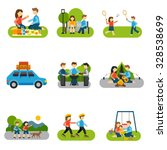 outing concepts with friends... | Shutterstock .eps vector #328538699