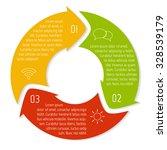 vector round infographic... | Shutterstock .eps vector #328539179