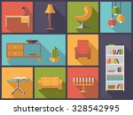 interior and furniture icons... | Shutterstock .eps vector #328542995