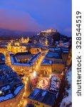 Salzburg Austria At Night  ...