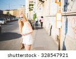 knee figure of young handsome... | Shutterstock . vector #328547921