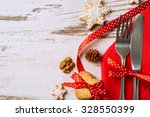 Cutlery Decoration With Bow...
