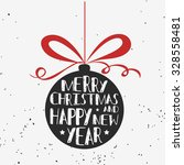 typographical greeting card.... | Shutterstock .eps vector #328558481