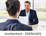 job interview   candidate... | Shutterstock . vector #328561601