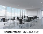 corporate workplaces equipped... | Shutterstock . vector #328566419