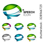 set of abstract speech bubble... | Shutterstock .eps vector #328566725