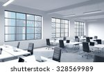 corporate workplaces equipped... | Shutterstock . vector #328569989