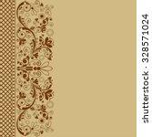 vector vintage floral ... | Shutterstock .eps vector #328571024