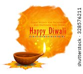 illustration of happy diwali... | Shutterstock .eps vector #328576211