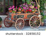 Old Horse Car With Flowers