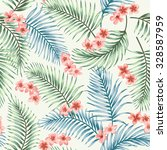 seamless exotic pattern with... | Shutterstock .eps vector #328587959