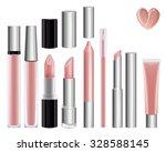 make up set for lips. lipstick... | Shutterstock .eps vector #328588145
