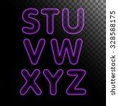 purple x ray neon light glowing ... | Shutterstock .eps vector #328588175