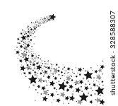 black shooting star | Shutterstock .eps vector #328588307