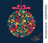 autumn sales. vector design... | Shutterstock .eps vector #328595681
