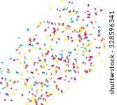 colorful confetti on white... | Shutterstock .eps vector #328596341