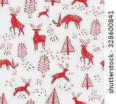 scandinavian seamless pattern... | Shutterstock .eps vector #328600841