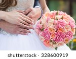 beautiful wedding bouquet in... | Shutterstock . vector #328600919