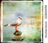 Sea Gull Artistic Retro Styled...
