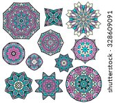 mandalas collection. round... | Shutterstock .eps vector #328609091