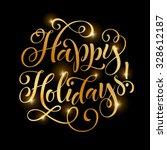vector golden text on black... | Shutterstock .eps vector #328612187