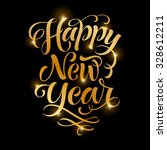 vector golden text on black... | Shutterstock .eps vector #328612211