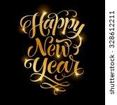 vector golden text on black... | Shutterstock .eps vector #328612211