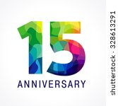 15 years old celebrating... | Shutterstock .eps vector #328613291