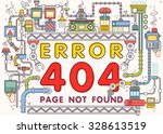 thin line flat design of... | Shutterstock .eps vector #328613519